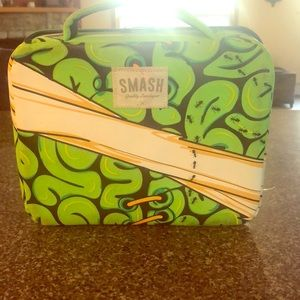 Blue and green hard lunchbox